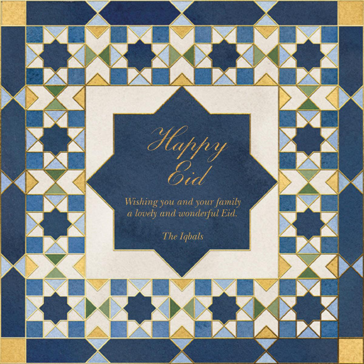 Mosaic Beauty - Paperless Post - Ramadan and Eid