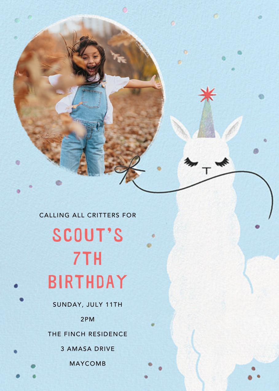 Llamacorn - Paperless Post - Kids' birthday