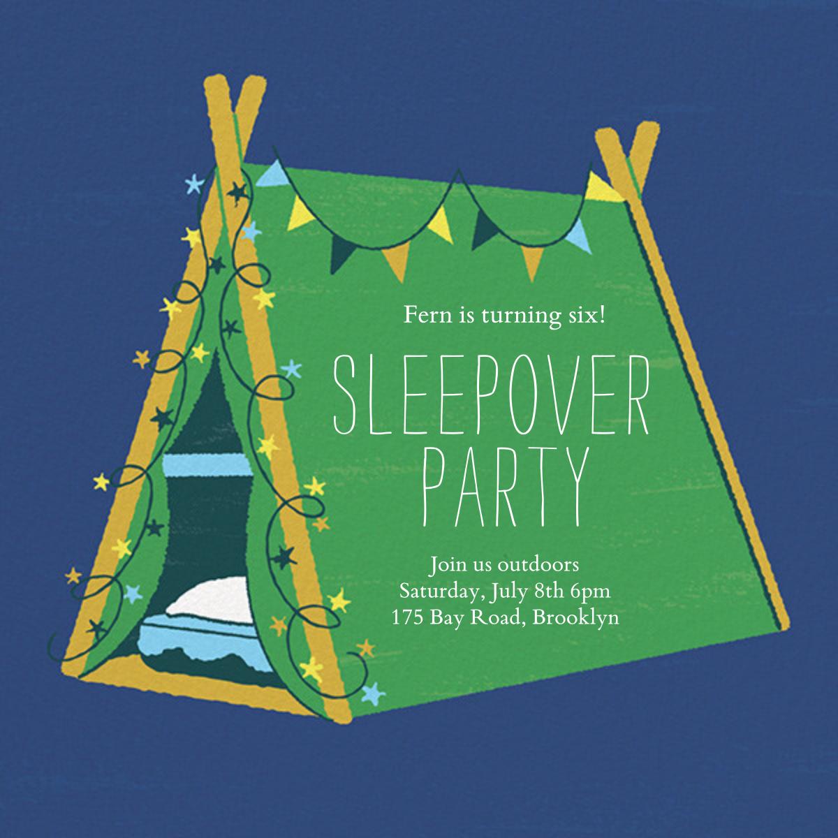Sleepover Camp - Emerald - Paperless Post - Kids' birthday