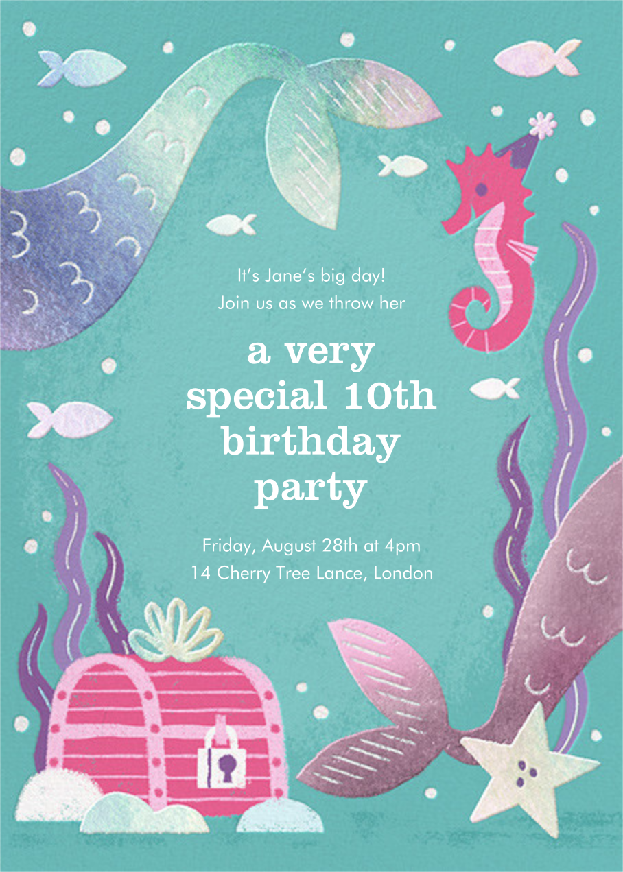 Under the Sea - Paperless Post - Kids' birthday