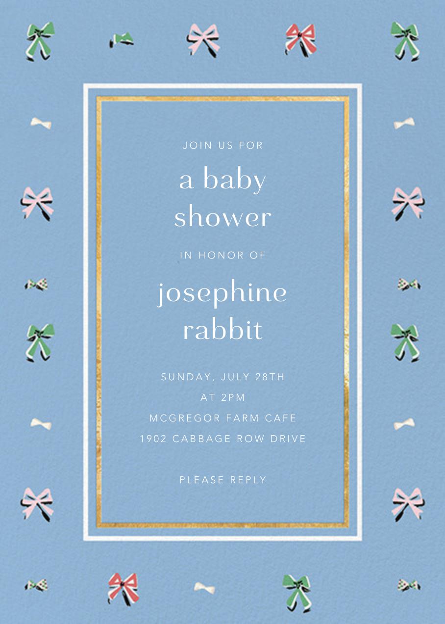 Border Bows - Spring Rain - Anthropologie - Baby shower
