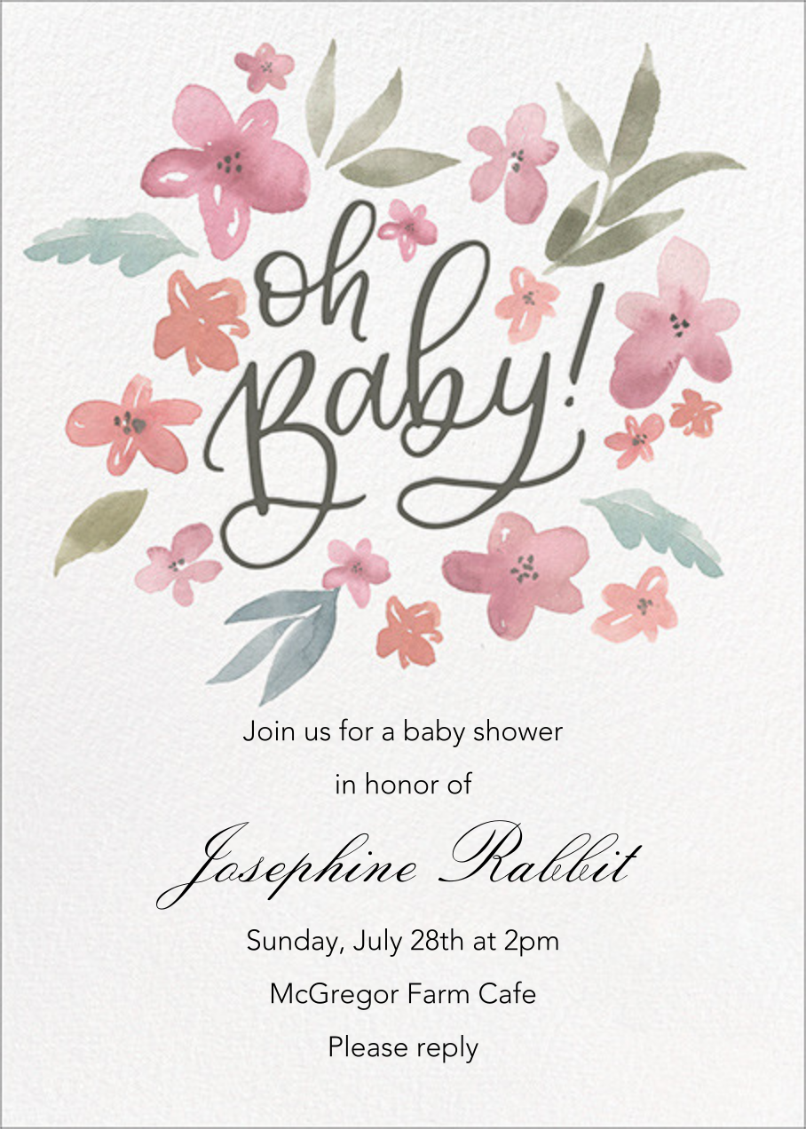 Baby Bouquet - Paper Source - Baby shower