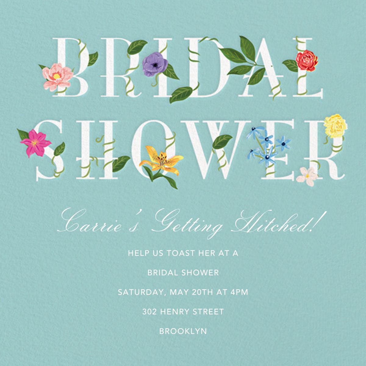 Floral Letters - Paper Source - Bridal shower