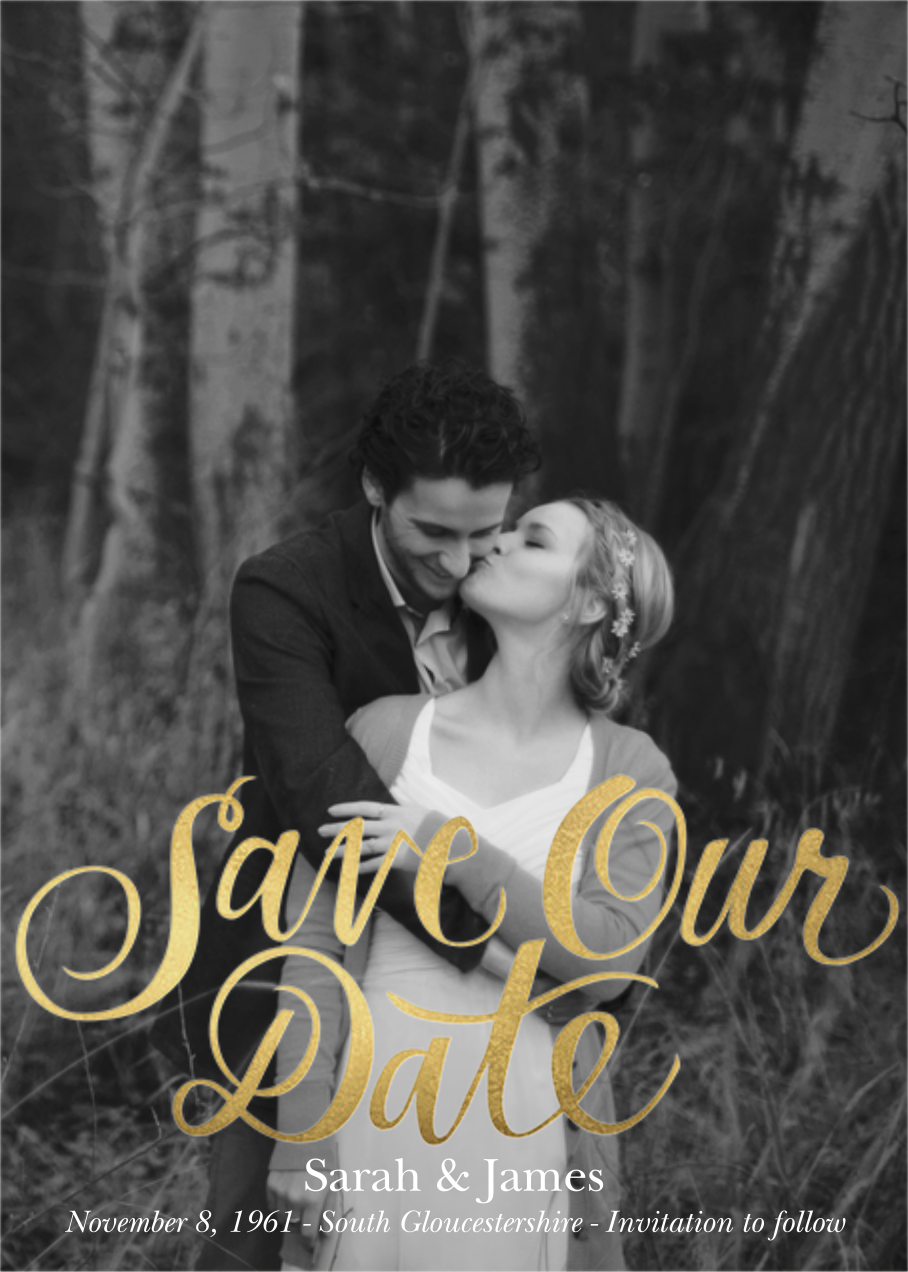 Save Our Date - Paper Source - Gold and metallic