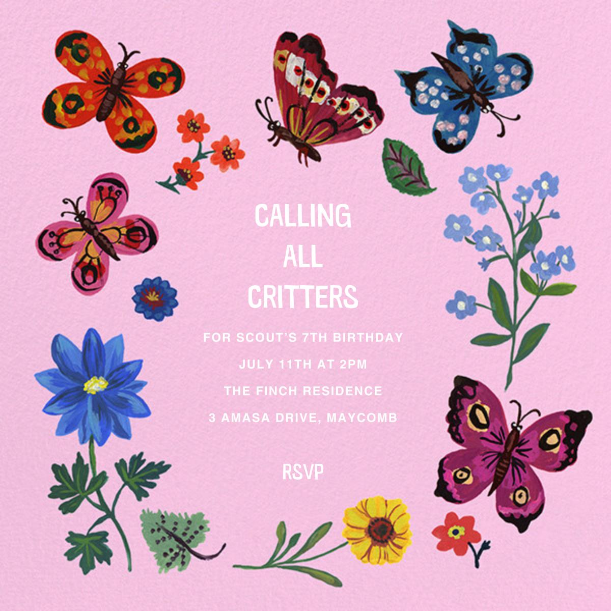 Papillons - Carnation - Nathalie Lété