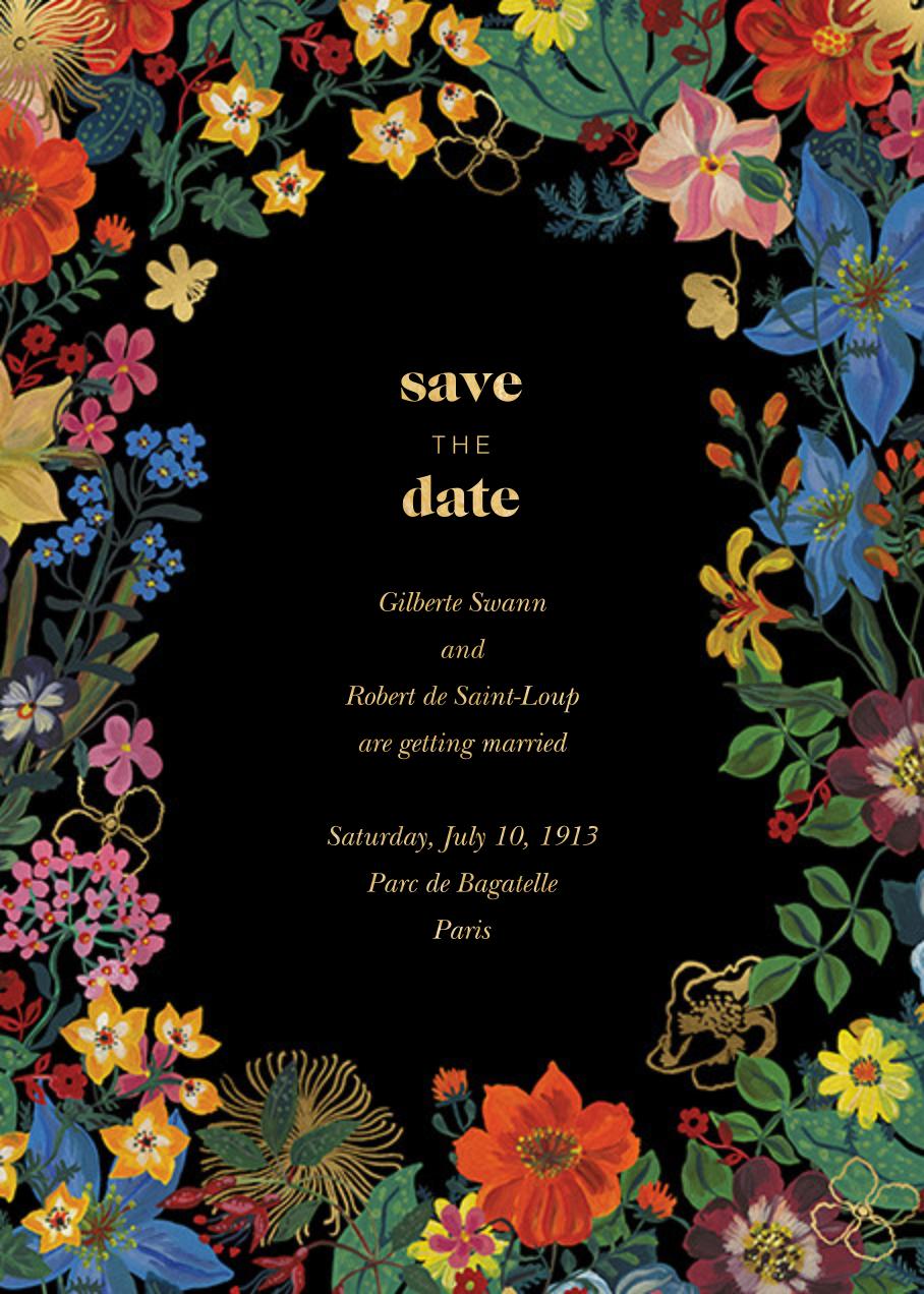En Fleurs - Black - Nathalie Lété - Save the date