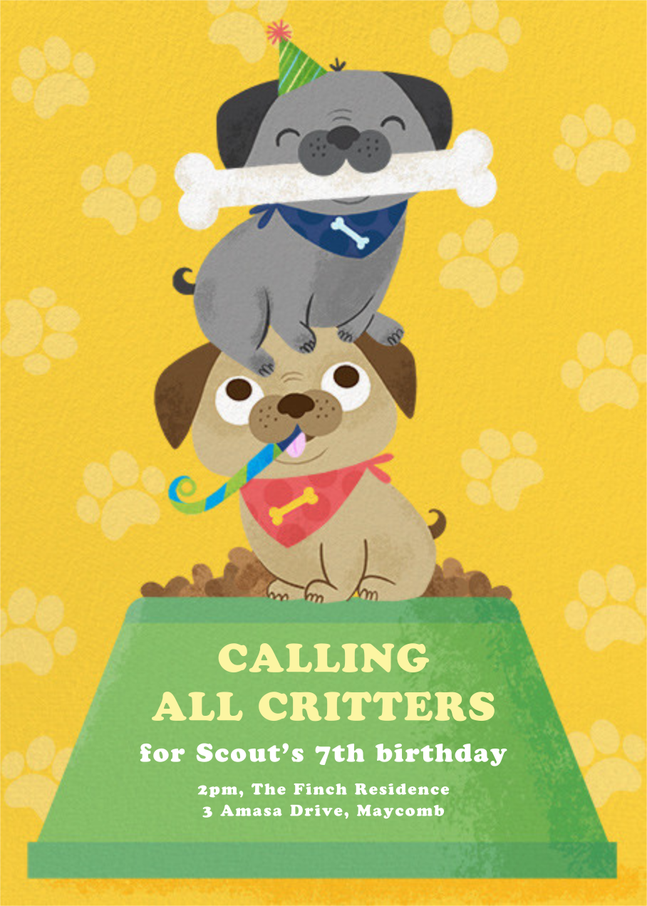 Let's Pawty - Paperless Post - Kids' birthday