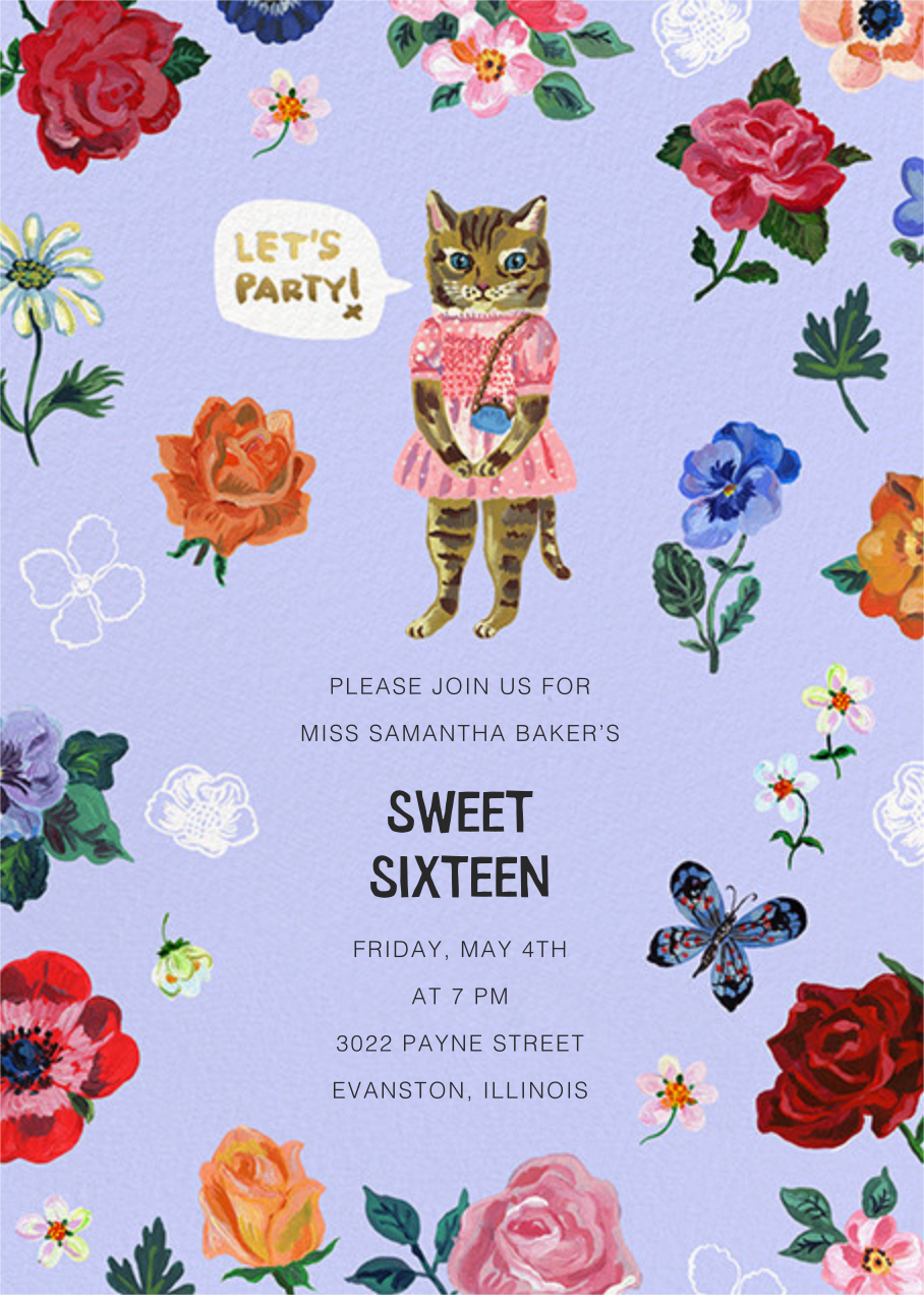 Le Chat (Tall) - Forget-Me-Not - Nathalie Lété - Kids' birthday