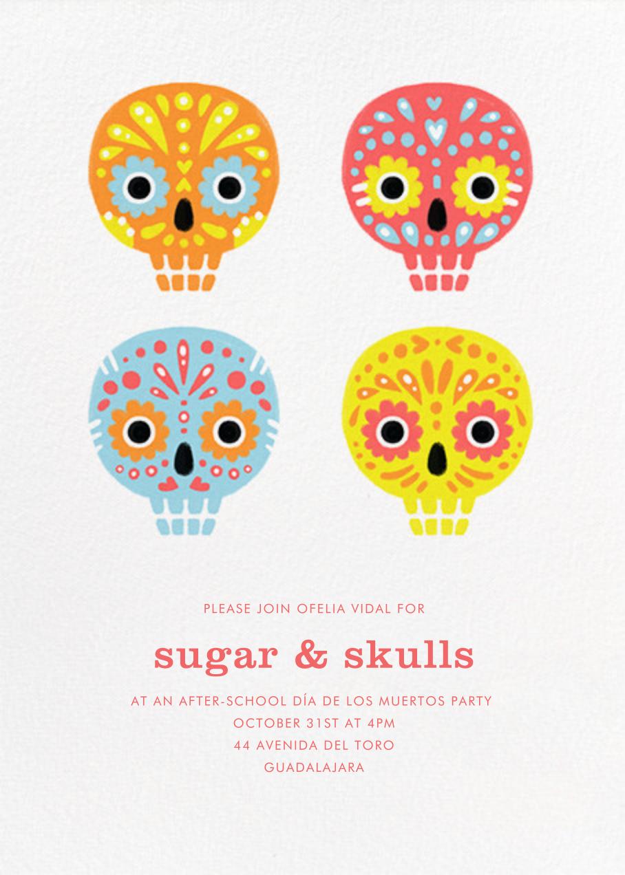 Little Sugar Skulls - Paperless Post - Kids' Halloween invitations
