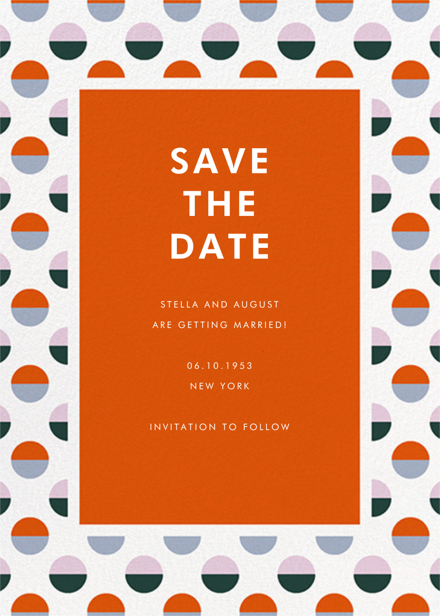 Candy Dots - kate spade new york - Save the date