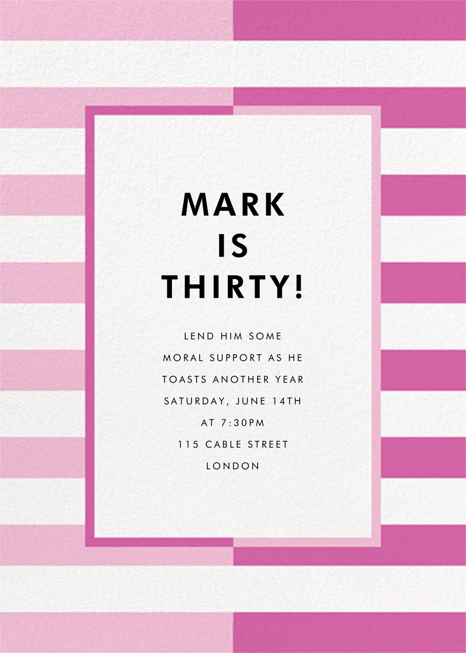 Colorblocked Stripes - Carnation/Heath - kate spade new york - Adult birthday