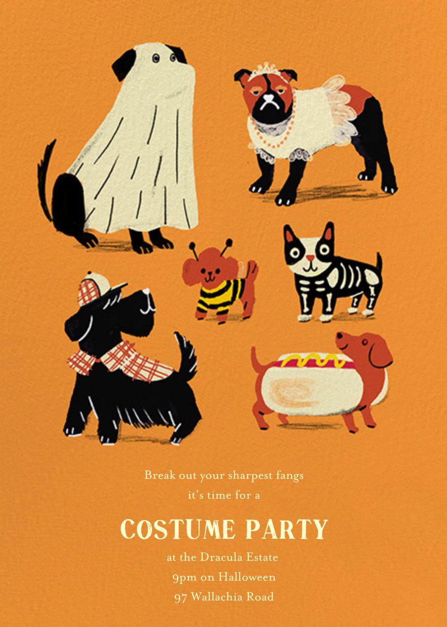 Howlin' Halloween - Orange - Paperless Post - Halloween
