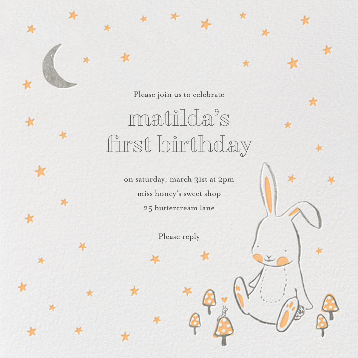 Starry Bunny - Hello!Lucky - Kids' birthday