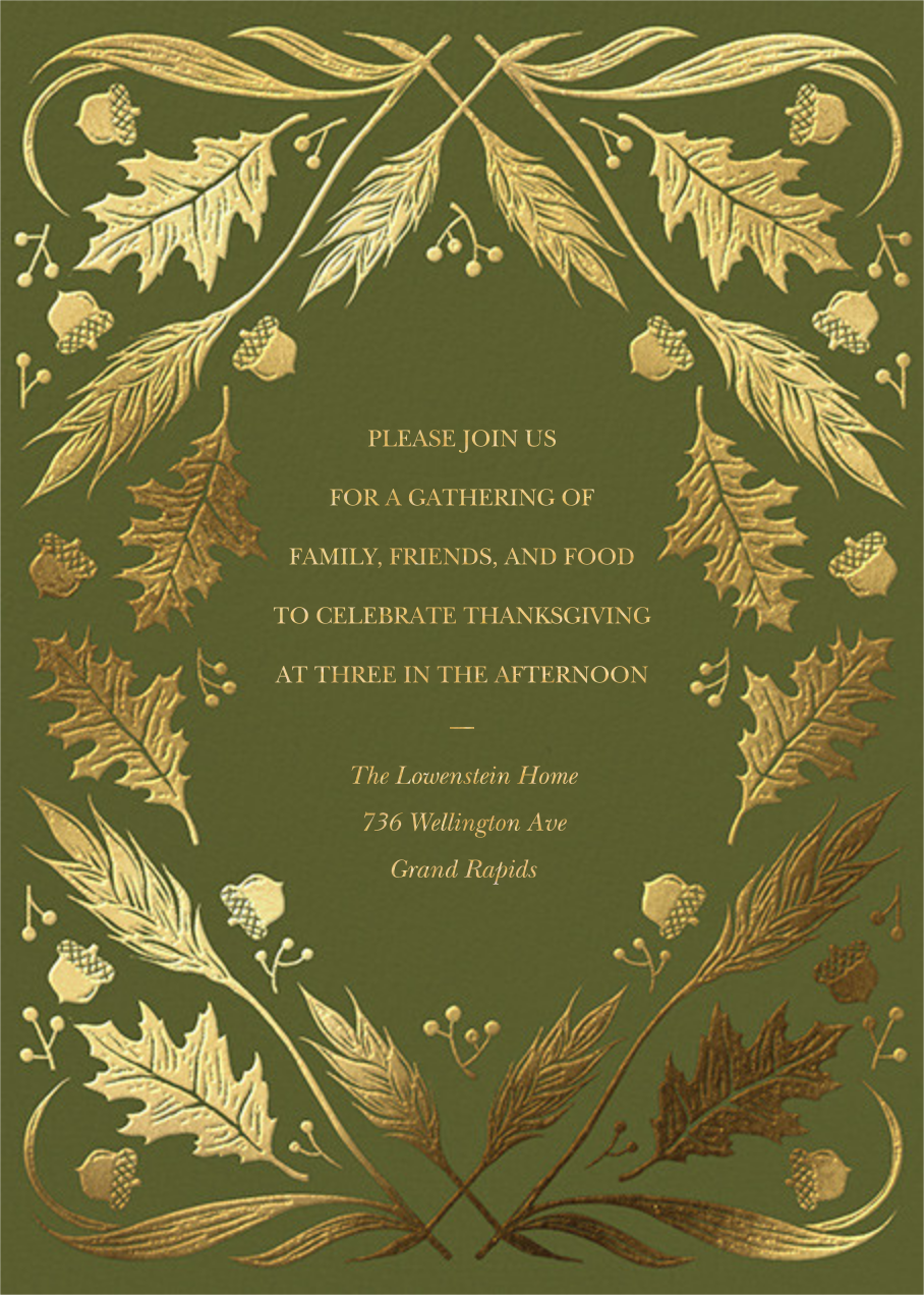 Foil Foliage - Paperless Post - Thanksgiving