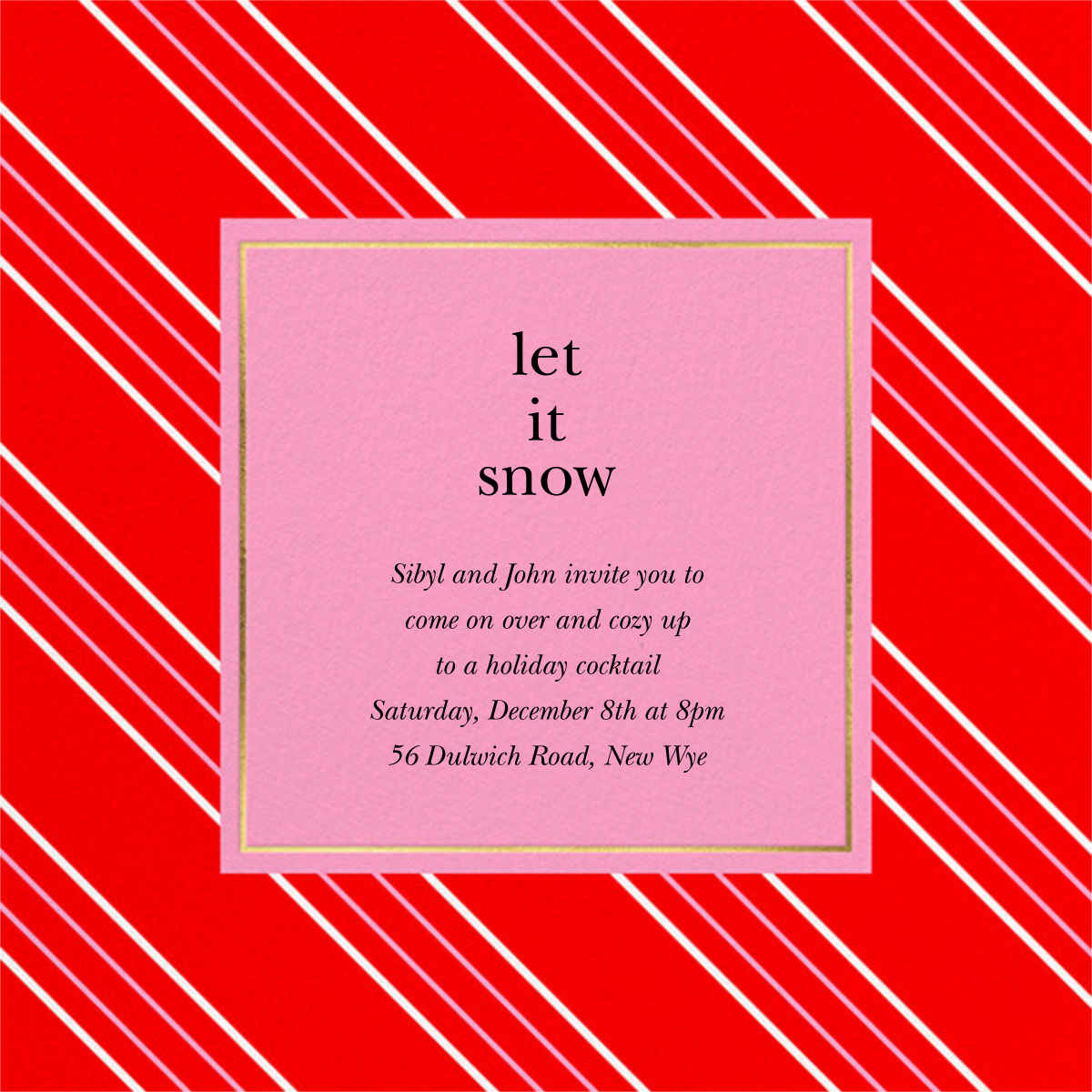 Peppermint Stripe - Red - kate spade new york - Holiday party