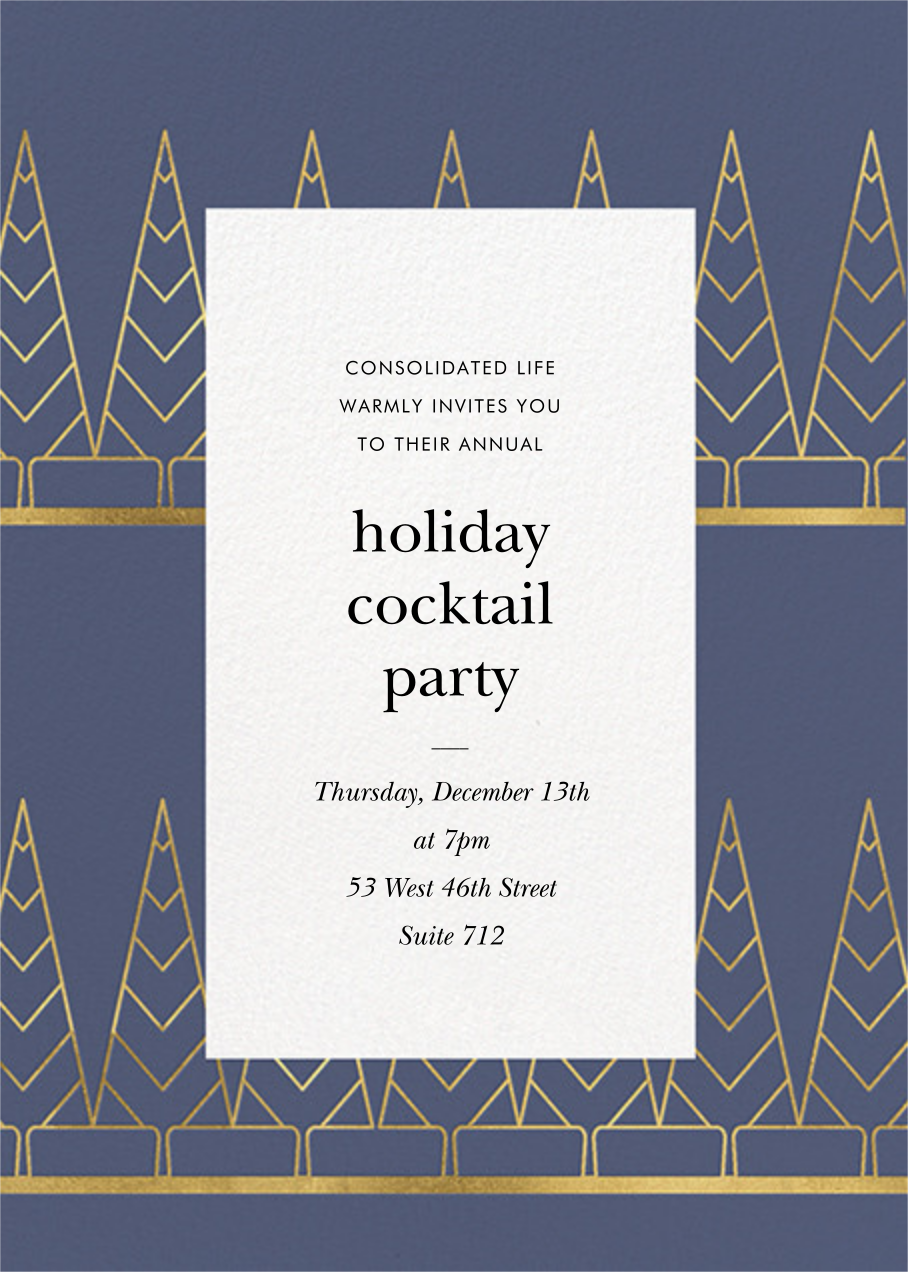 Deco Trees (Tall) - Cadet - kate spade new york - Corporate invitations