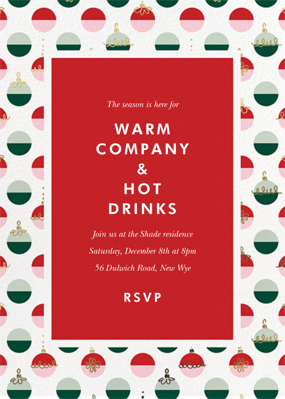 Dipped Ornaments - kate spade new york - Christmas party