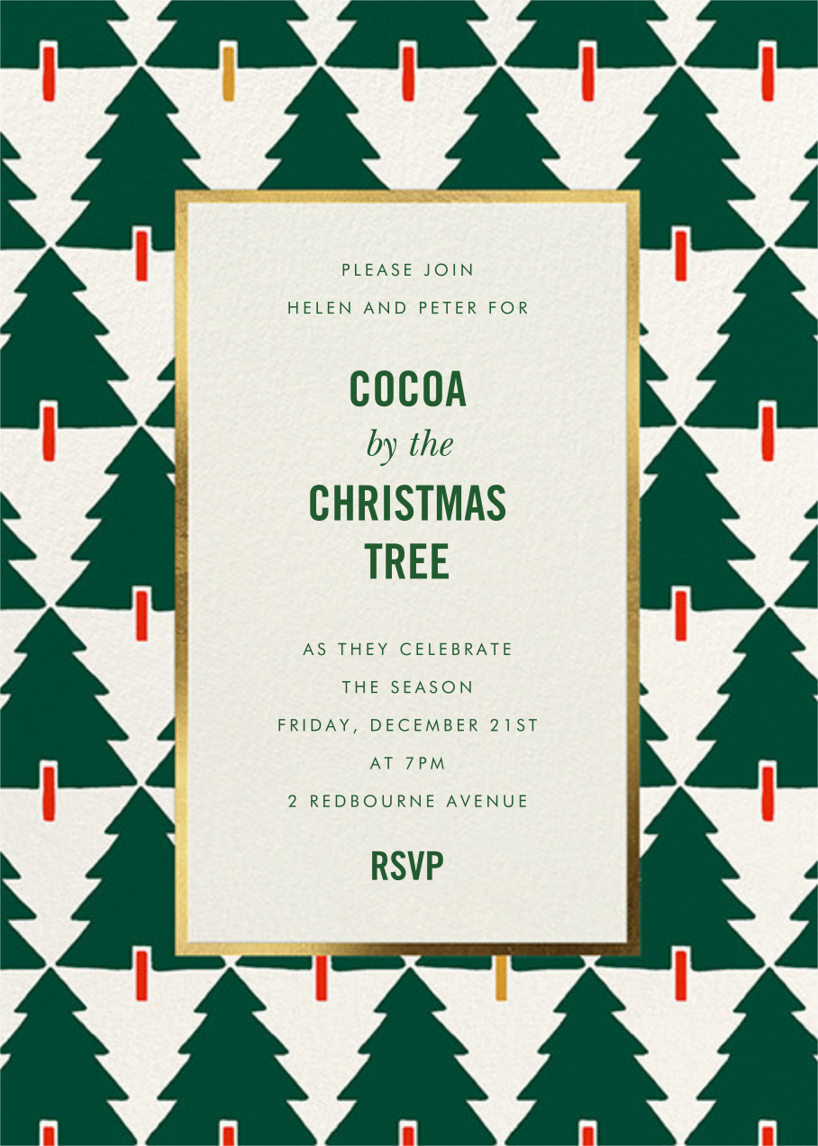 Tree Tessellation - kate spade new york - Christmas party