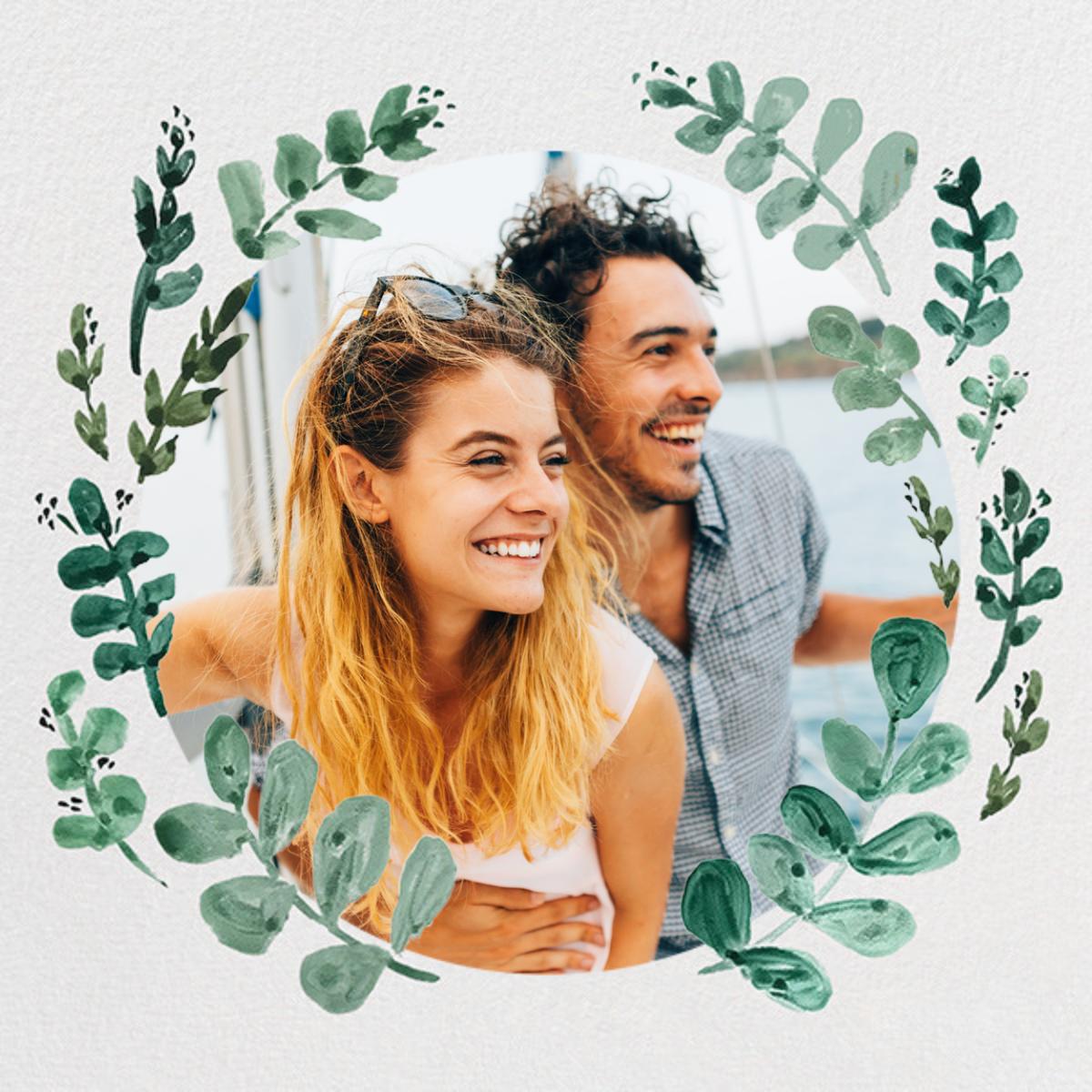 Eucalyptus Sprigs - Linda and Harriett - Save the date