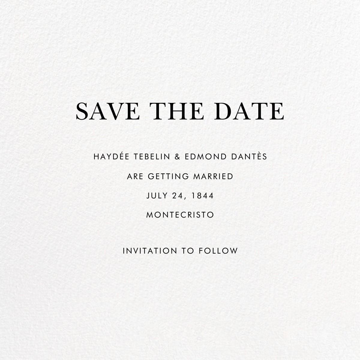 Eucalyptus Sprigs - Linda and Harriett - Save the date - card back