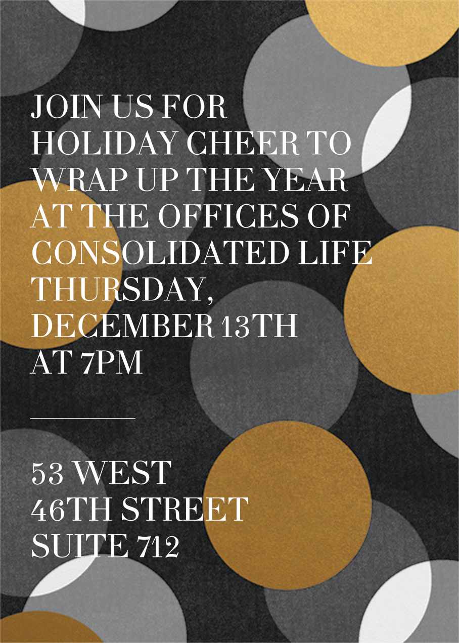 Jumbo Confetti - Gold/Black - Paperless Post - Winter parties