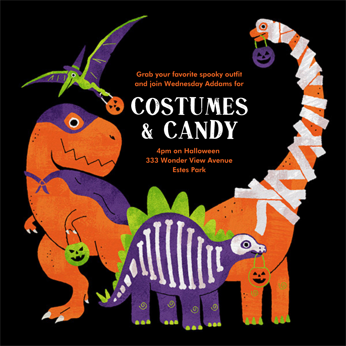 Dino Dress Up - Paperless Post - Halloween