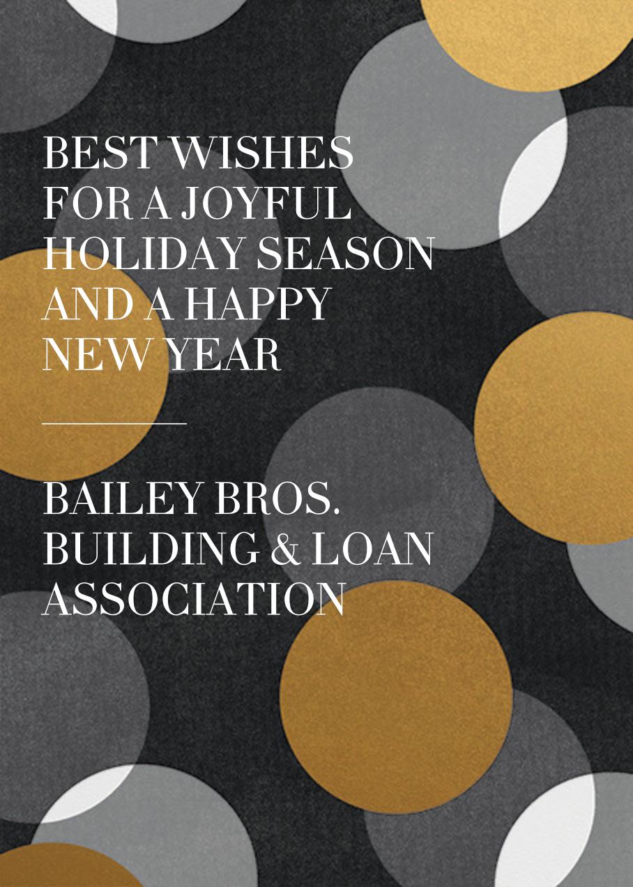 Jumbo Confetti - Gold/Black - Paperless Post - Company holiday cards