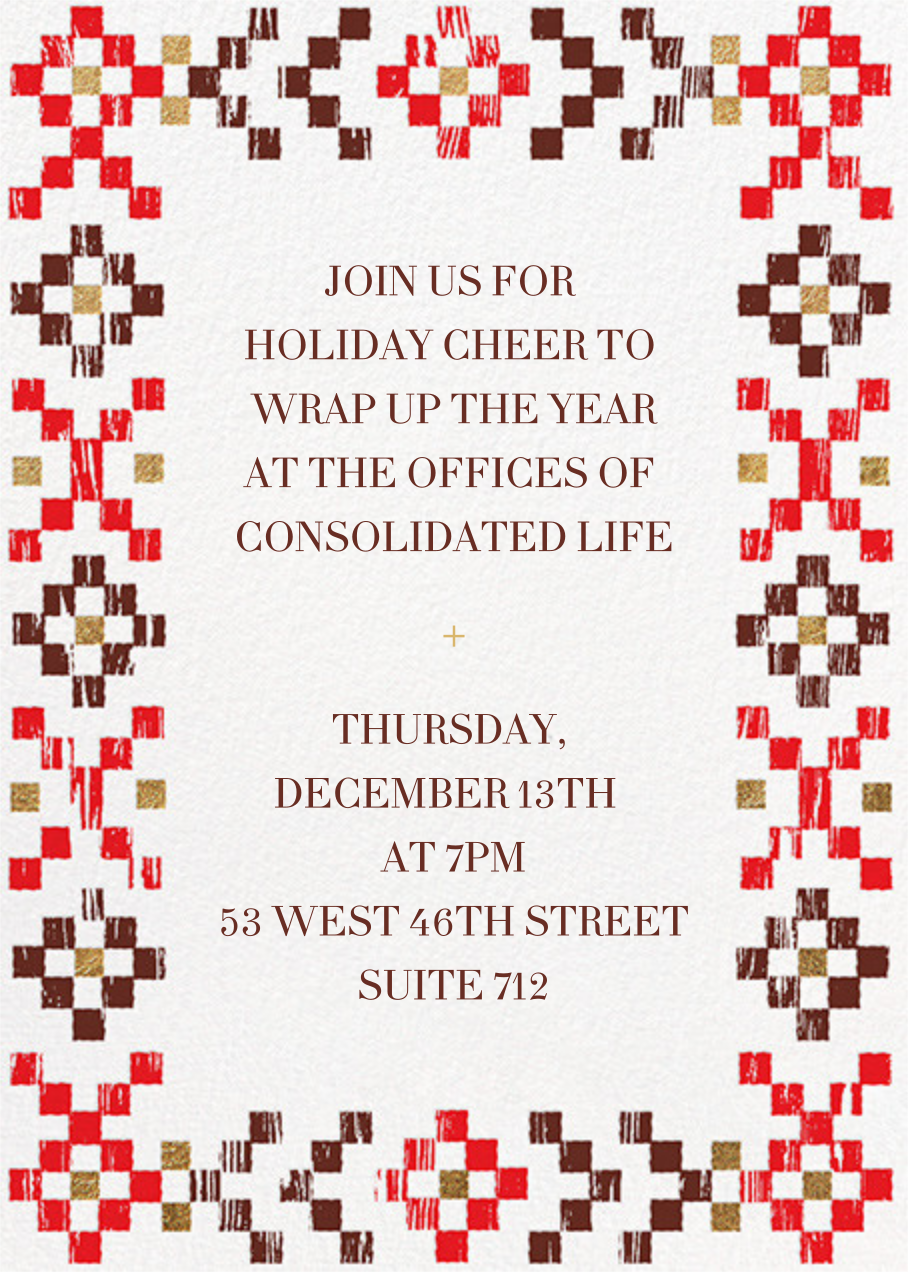 Warm Woodblock - Paperless Post - Holiday party