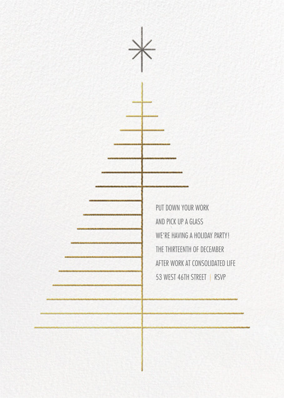 Tree Topper - White - Paperless Post - Corporate invitations