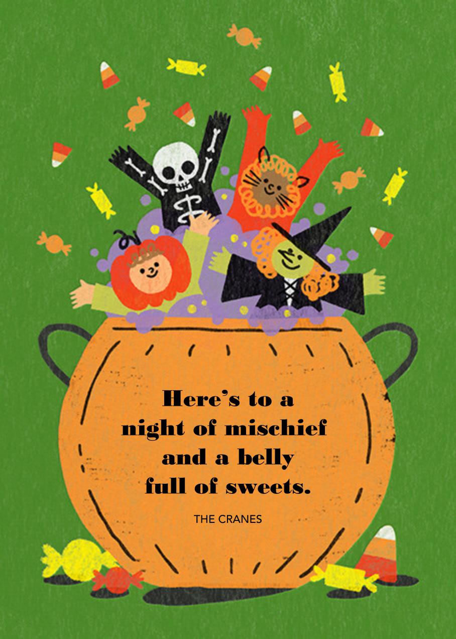 Candy Cauldron - Paperless Post - Halloween