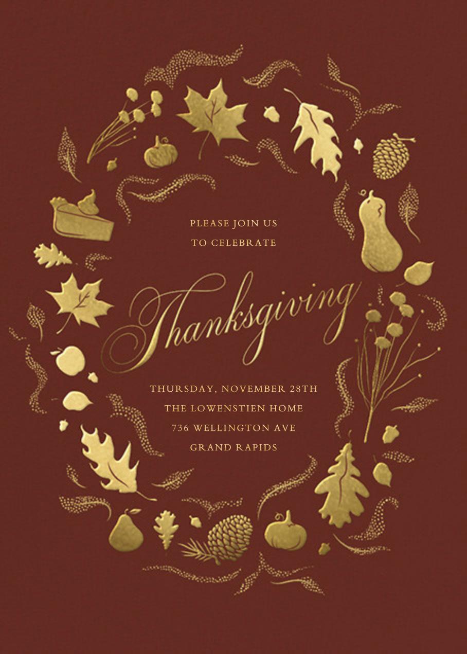 Golden Harvest - Paperless Post - Thanksgiving