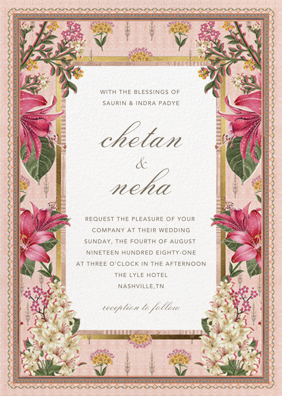 Keyuri (Invitation) - Anita Dongre - Indian