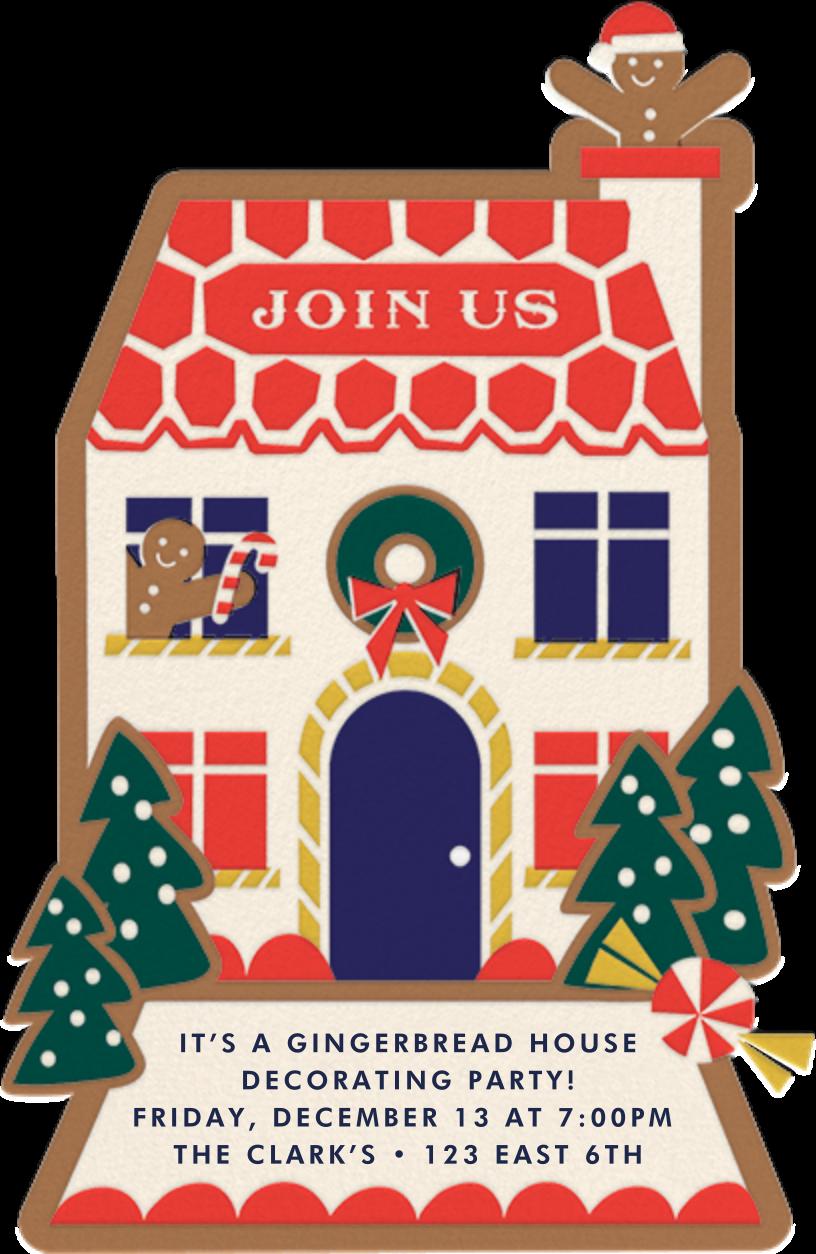 Ginger Neighbor (Invitation) - Cheree Berry - Christmas party