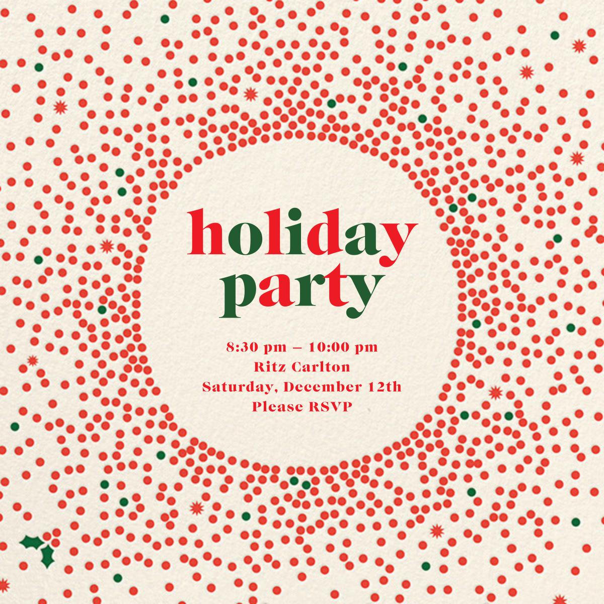 Reverse Snow Globe (Square) - Cream - Cheree Berry - Company holiday party