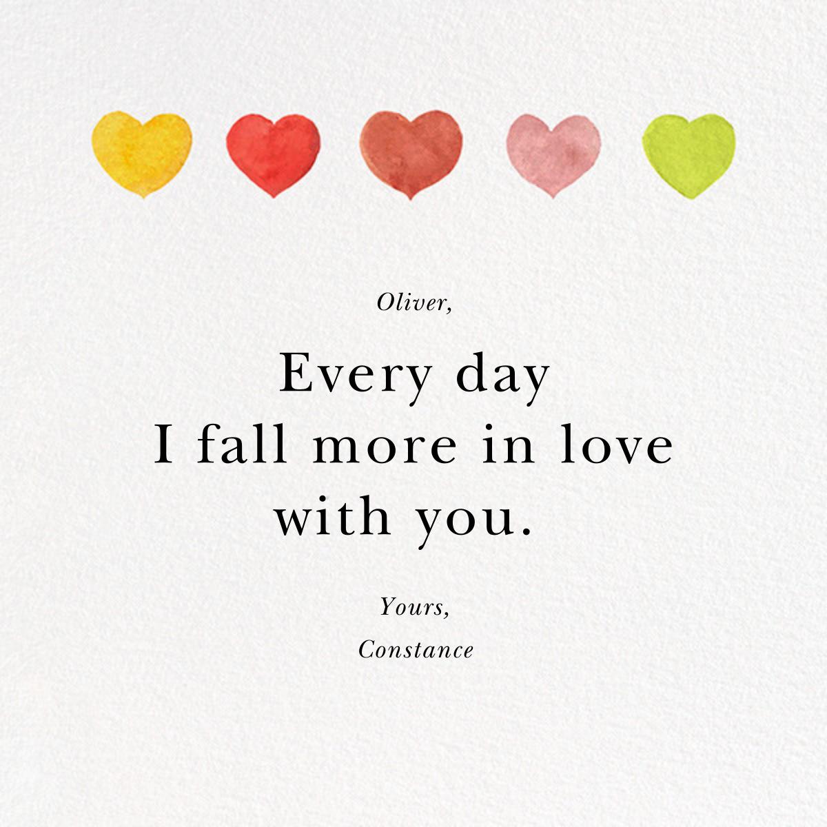Row of Hearts - Felix Doolittle - Valentine's Day