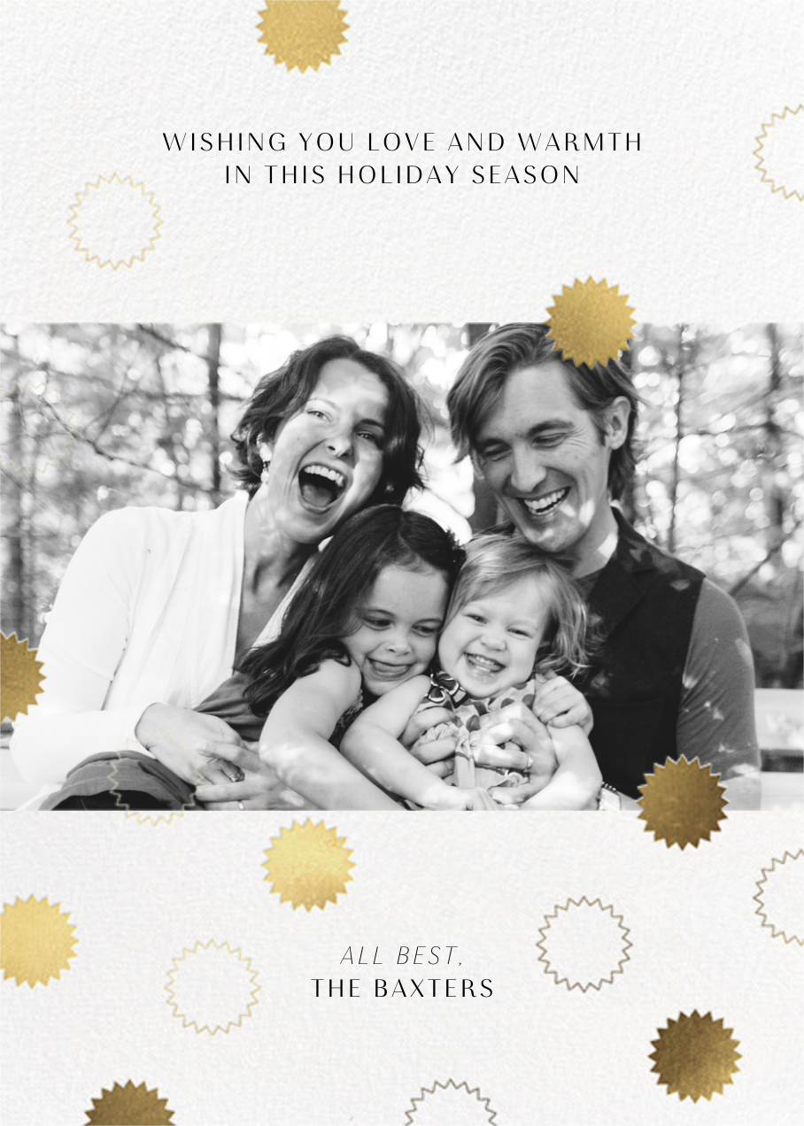 Gold Confetti - Paperless Post - Holiday cards