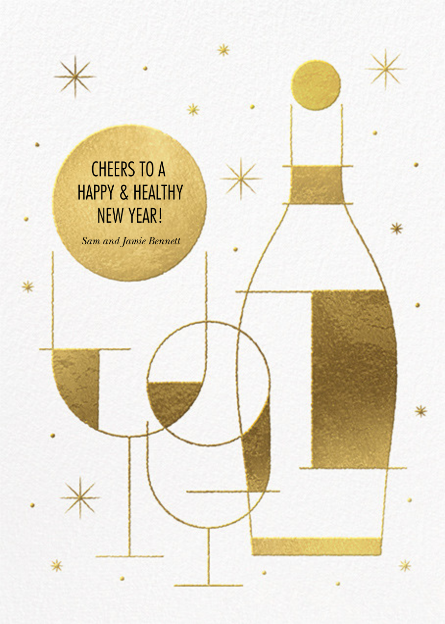 Champagne Dazzle - Paperless Post - New Year