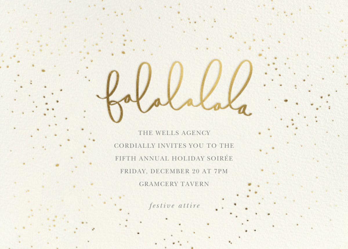Falalalala - Sugar Paper - Corporate invitations