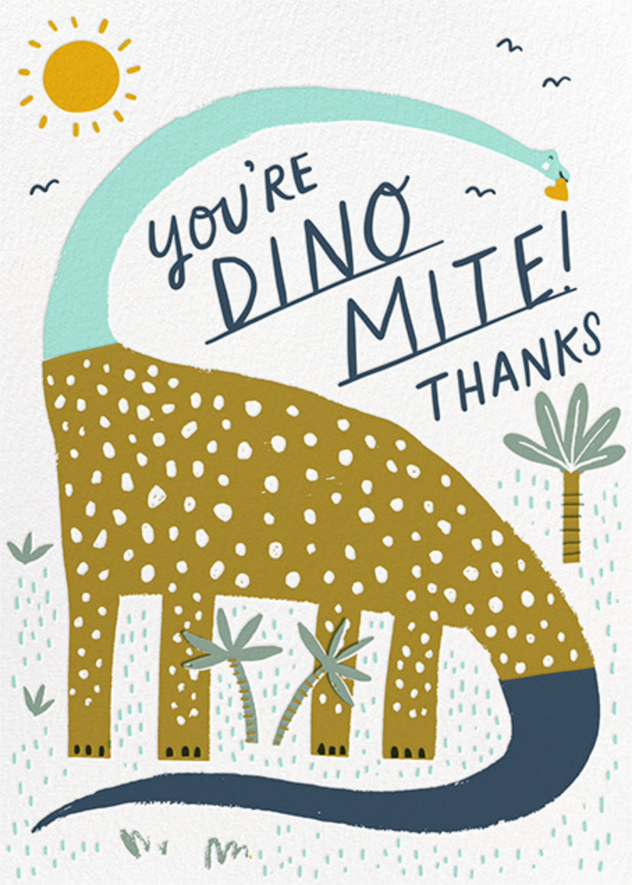 Dinos Might (Greeting) - Blue - Hello!Lucky