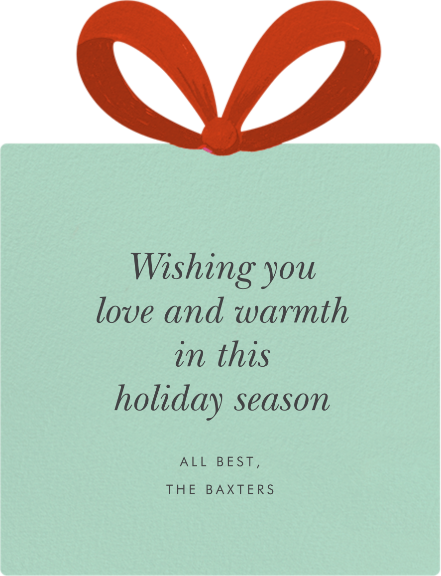 Winterberries Present - Rifle Paper Co. - Holiday cards - card back