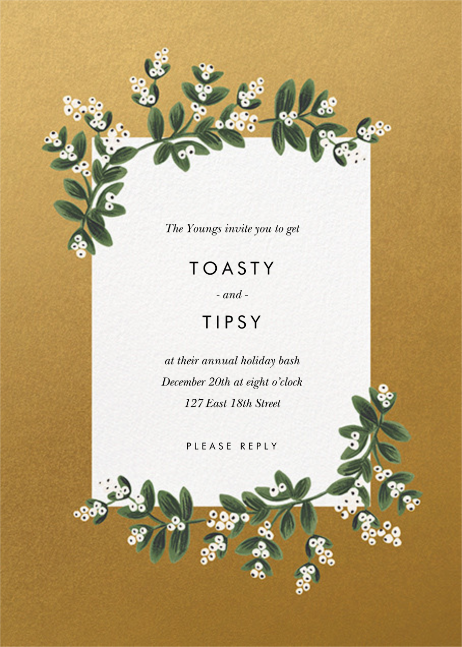 Mistletoe Accent Flourish - Gold - Rifle Paper Co. - Winter entertaining