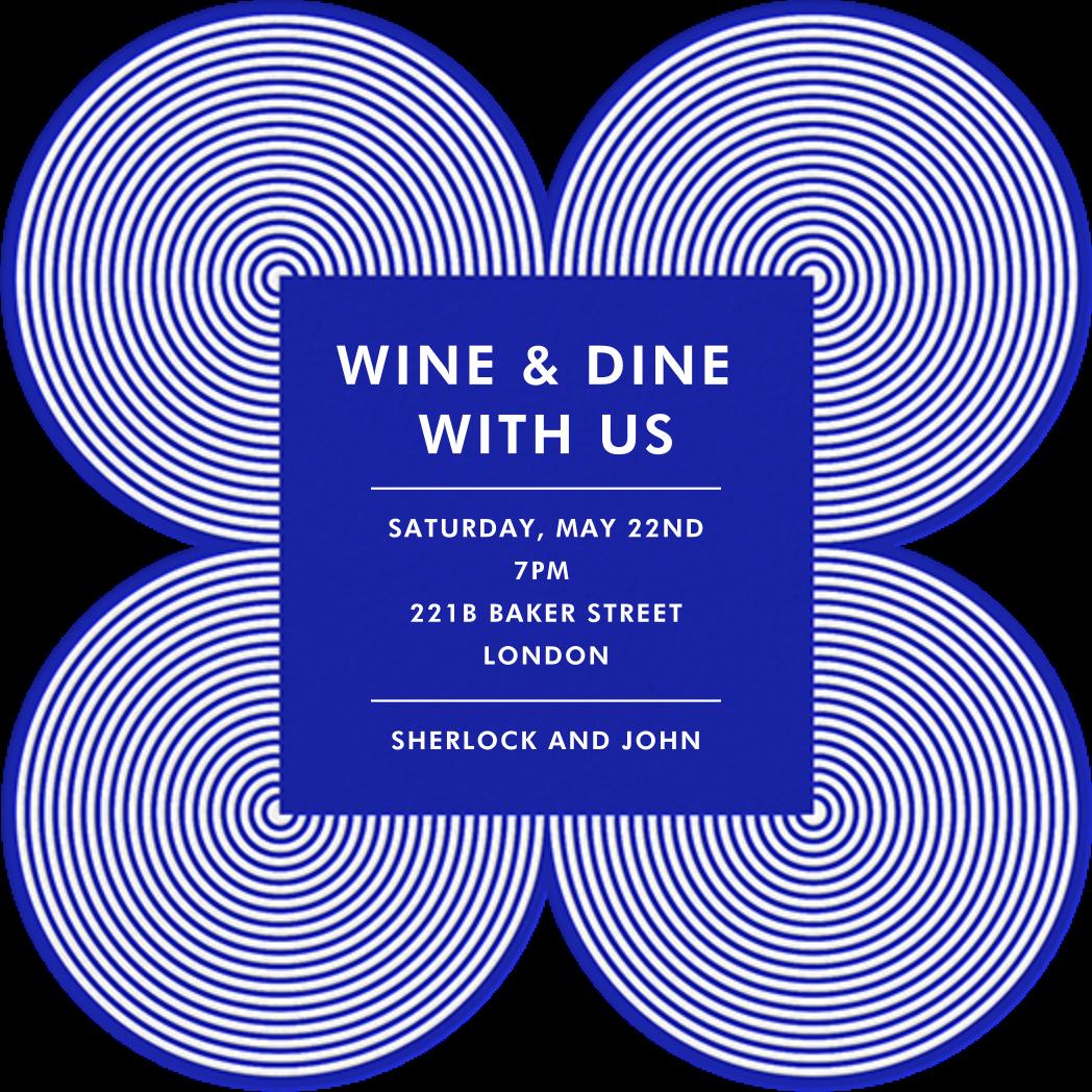 Melrose - Blue - Jonathan Adler - Dinner party