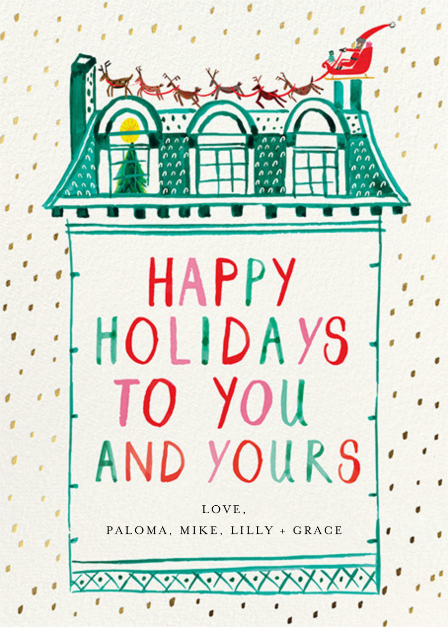Up on the Rooftop - Greeting - Mr. Boddington's Studio - Holiday cards