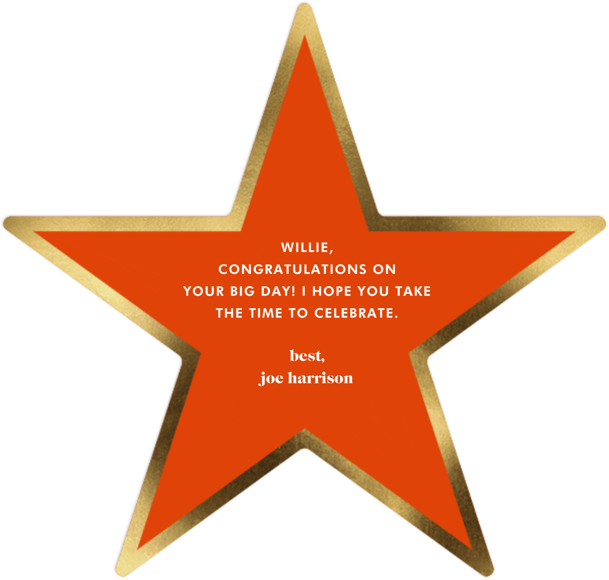 Elton - Jonathan Adler - Congratulations - card back