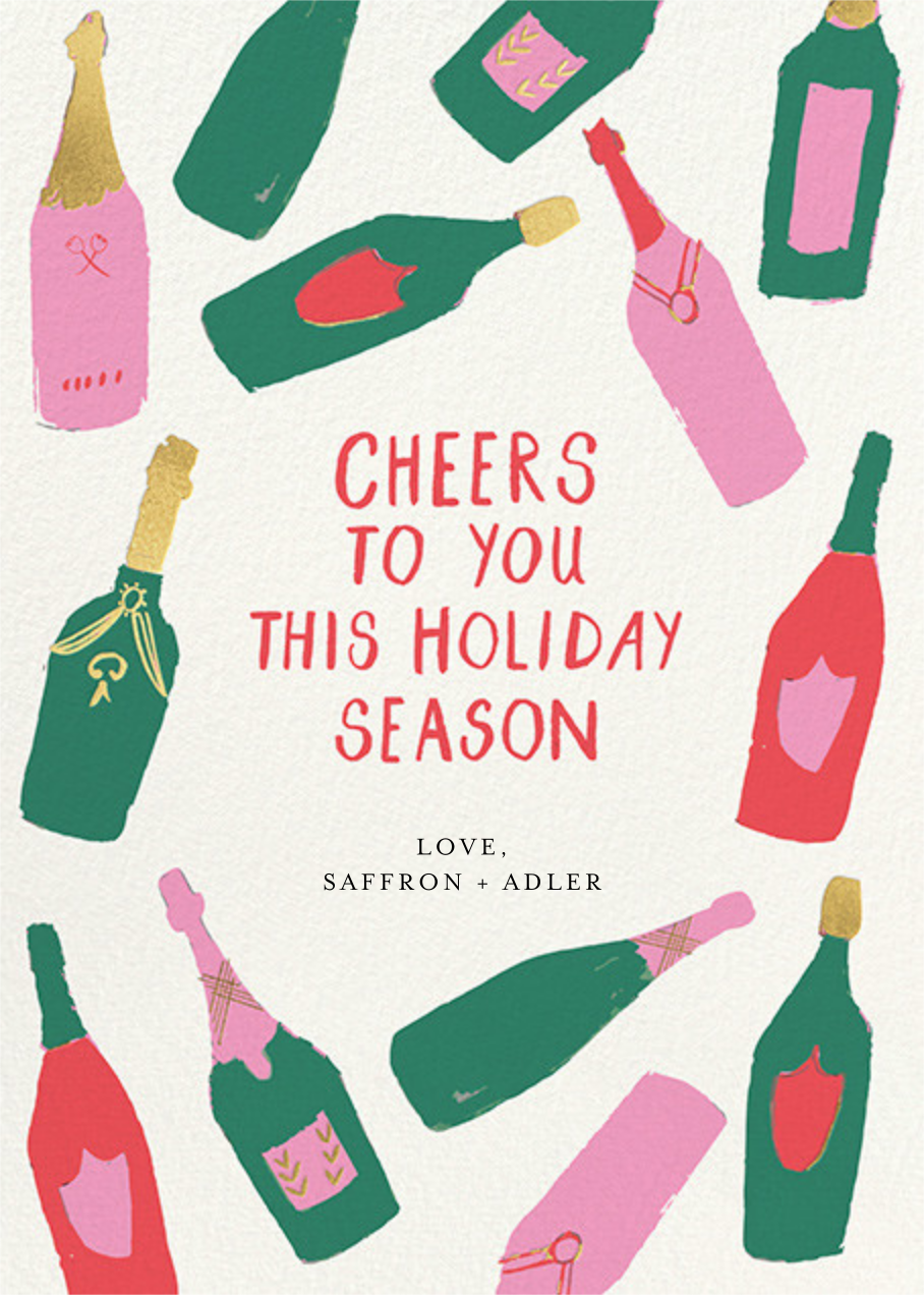 Bottle Behavior - Mr. Boddington's Studio - Holiday cards