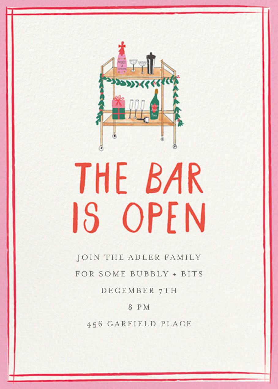 Holly Jolly Bar Cart - Mr. Boddington's Studio - Christmas party