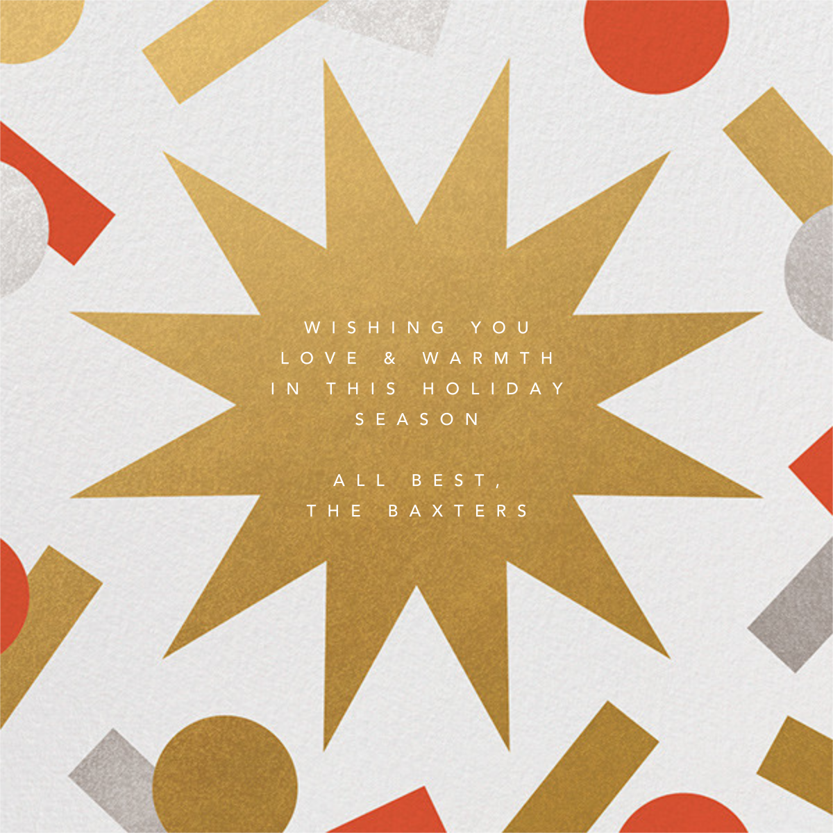 Holiday Confetti - Flame - Paperless Post - Holiday cards - card back