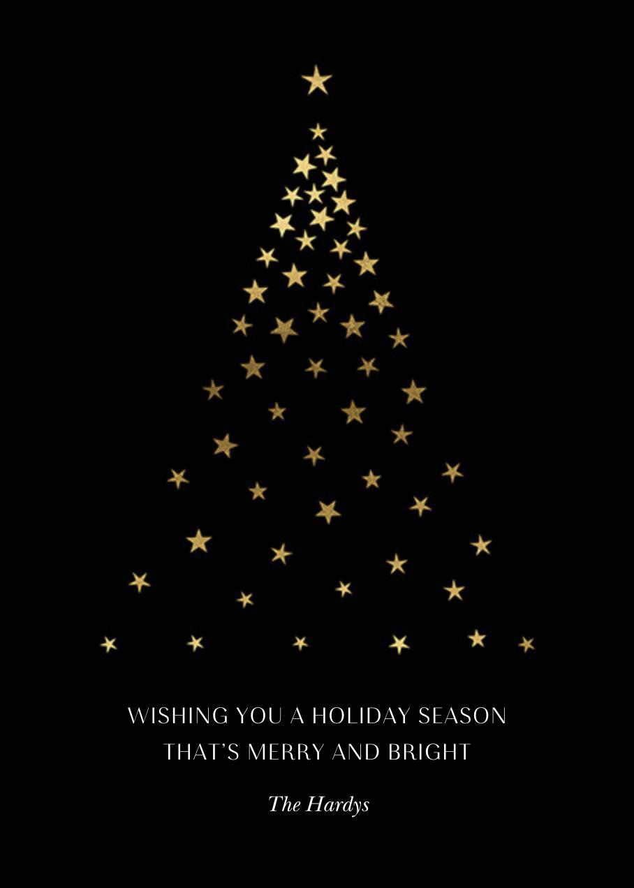 Starry Tree - Black - Paperless Post - Christmas