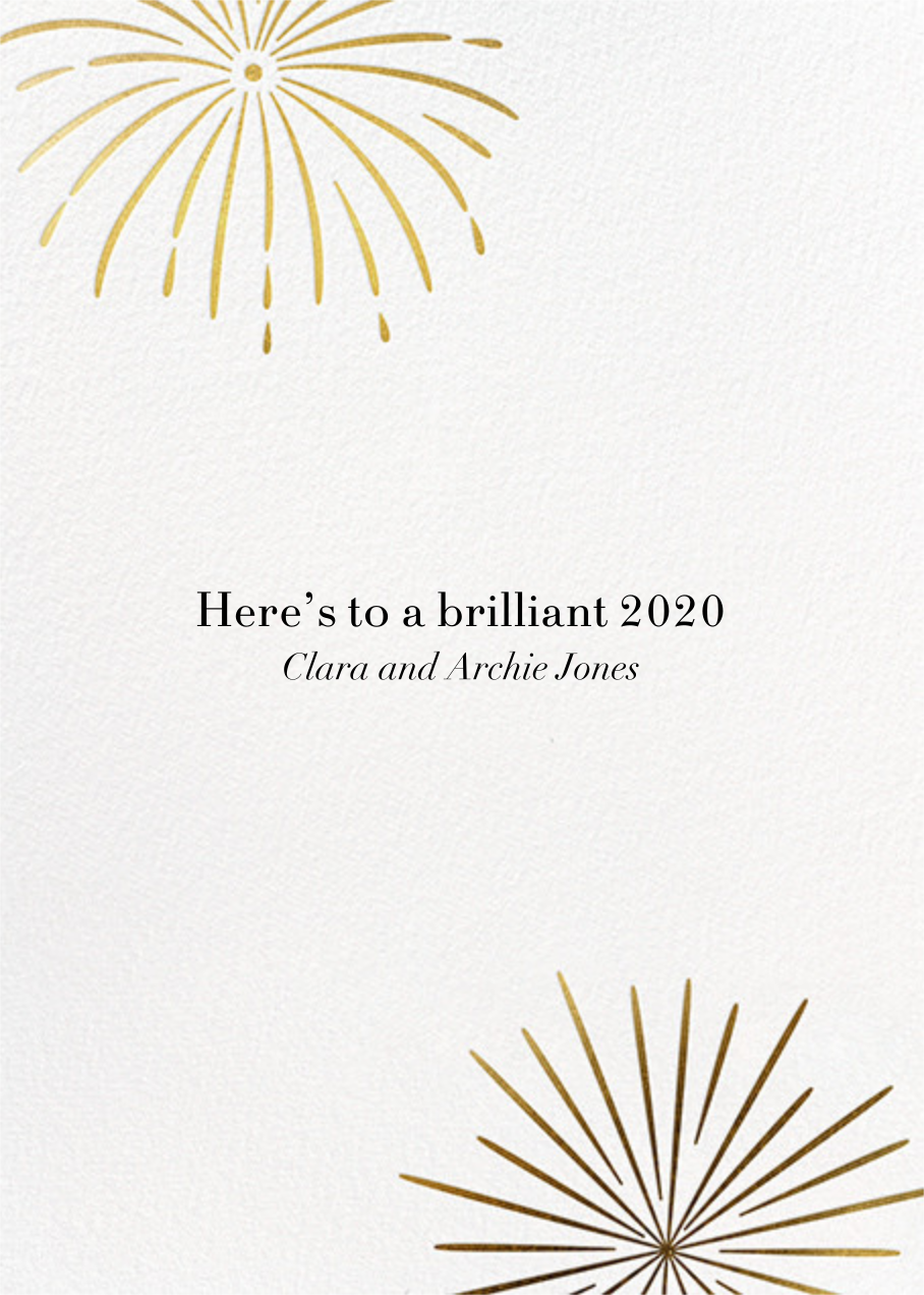 A Sparkling New Year - Paperless Post - New Year - card back