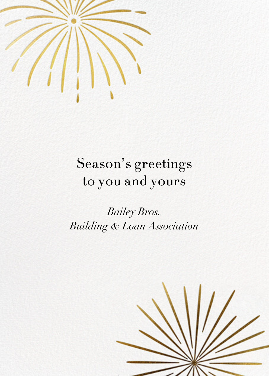 A Sparkling New Year - Paperless Post - Company holiday cards - card back